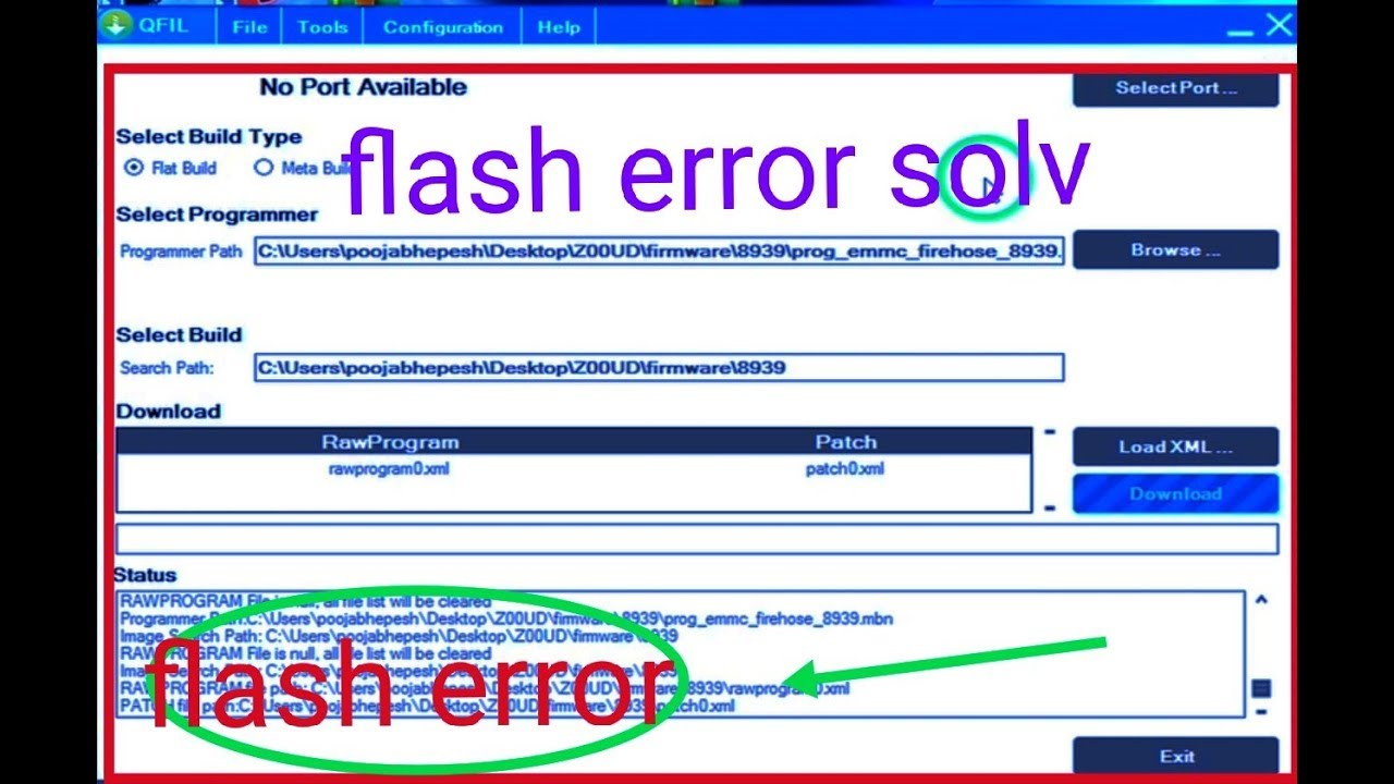 how to solv qualcomm flash tool error 100% solv 2018 by Tulasi Mobile  Services