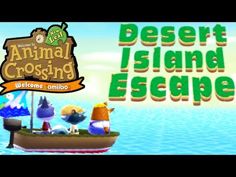 Animal Crossing: New Leaf - Welcome amiibo Update! - Desert Island Escape - 3DS Gameplay Walkthrough