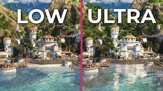 Anno 1800 – PC 4K Low vs. high vs. Ultrahigh Graphics Comparison