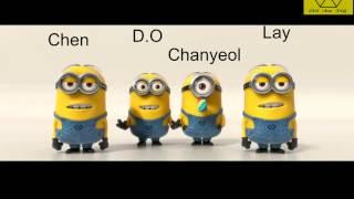 Video EXO ( Chen, D.O , Chanyeol , Lay ) -Minions download MP3, 3GP, MP4, WEBM, AVI, FLV Juni 2018