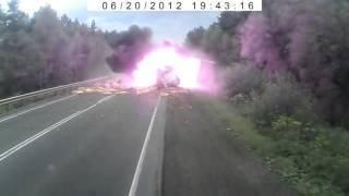 Авария на трассе М5 , фура без тормозов