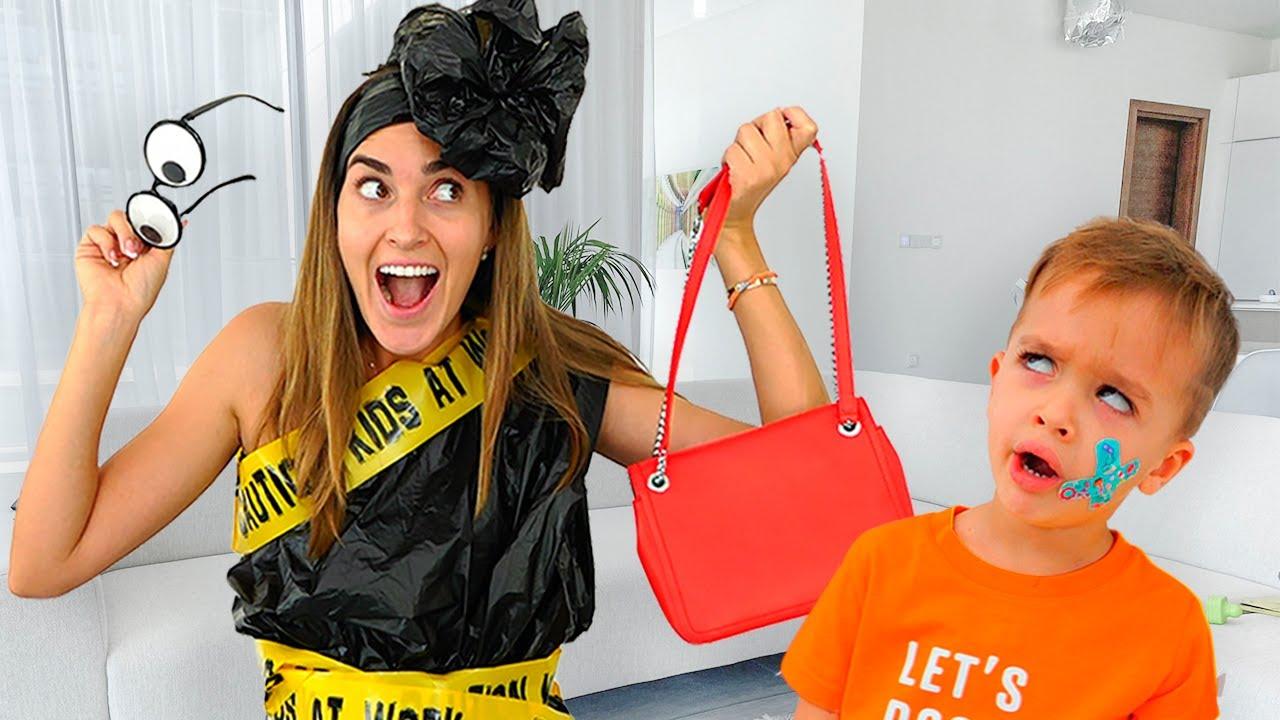 Niki làm cho quần áo mới cho bà mẹ