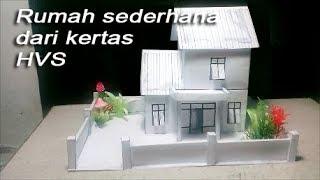 Cara membuat rumah sederhana dari kertas