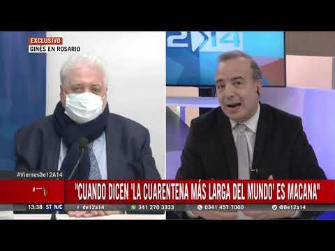 Ginés en Rosario habló sobre el retroceso de fase