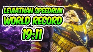 Destiny 2 - LEVIATHAN SPEEDRUN WORLD RECORD! [19:11] [Fastest Leviathan Raid]