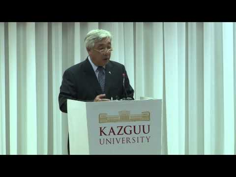 Lecture of the Minister Erlan Idrissov, Astana, KAZGUU Unive