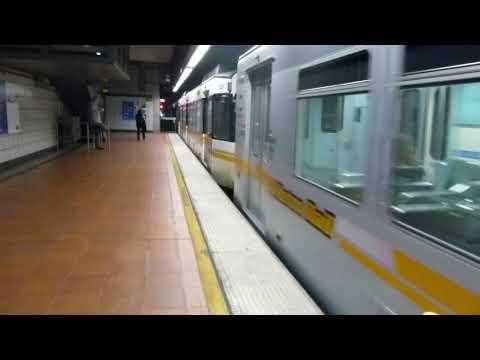LA Metro Rail: 1989 Nippon Sharyo P865 Expo Line at 7th St/Metro Center Station