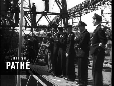 New Cargo Boat Launched At Szczecin (1948)