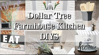 DOLLAR TREE FARMHOUSE DIYS | KITCHEN DECOR 2019