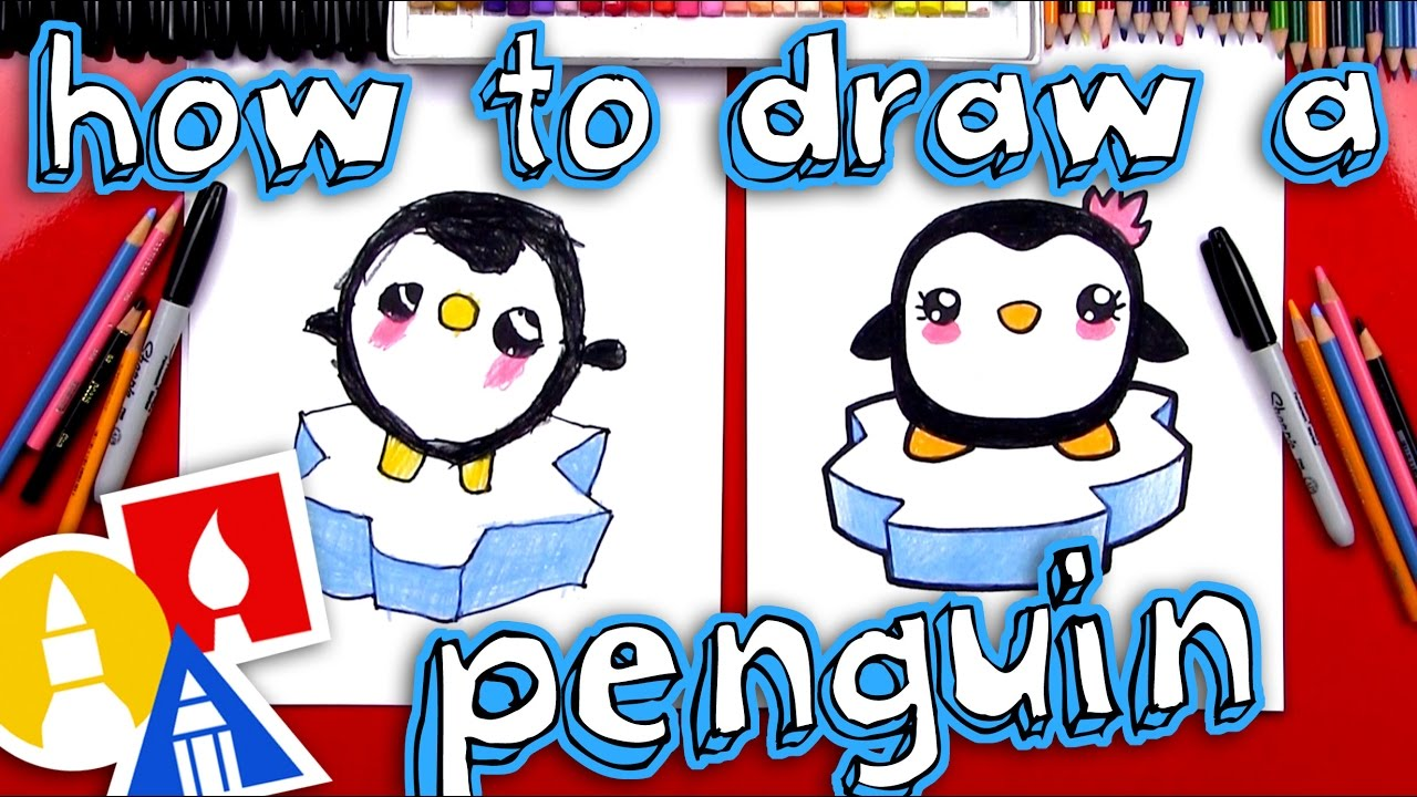 How To Draw A Cartoon Penguin Youtube