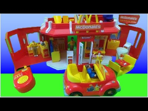 Thumbnail: McDonalds 2003 Play Set Toy Carry Along Drive Thru Restaurant UNBOXING