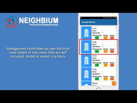 Admin view Society Blocks Module Demo- Apartment and Housing Society Management Application