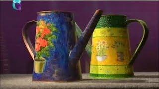 Декупаж. Декорируем садовые лейки, используя трехслойные бумажные салфетки. Мастер класс(, 2014-02-01T07:47:44.000Z)