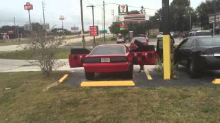 Red Iroc on 26s Sounding Off At The Waffle House