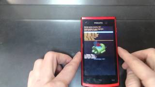 видео Hard Reset Philips Xenium W732