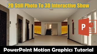 How to Create 3D Movement from A Still Photo in PowerPoint 2016 / 2019 Tutorial