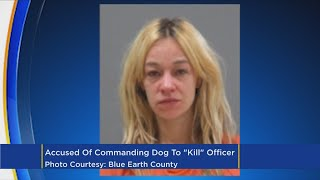 Charges: Woman Kicks Out Uber Windshield, Commands Dog To 'Kill' Cop
