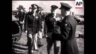 GENERAL ARNOLD VISITS AERODROME - NO SOUND