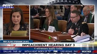 IMPEACHMENT HEARINGS: Elise Stefanik Questions Day 3 Witnesses