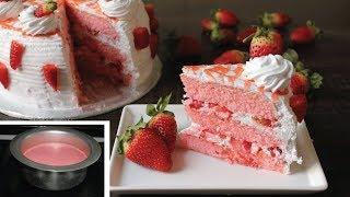Strawberry Cake Recipe |No Baking Pan| No Oven Cake Recipe- Cake recipe without Oven