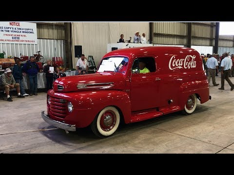 1949 Ford F1 Panel Delivery Coke Truck Sold Today on Iowa Collector Auction