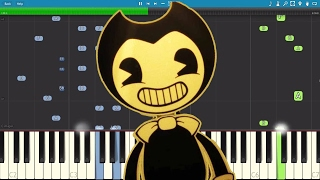 bendy and the ink machine song build our machine da games piano tutorial cover
