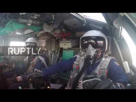 Syria: MoD footage shows Russian airstrikes against IS over Deir ez-Zor