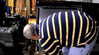 "Fresnel Lens removal from 52"" RCA Projection TV"