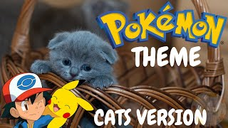 Cats Sing Pokemon Theme | Cats Singing Song Parody