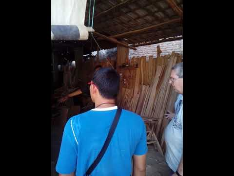 Culture tour of Cirebon city / visiting teak wood craftsmen