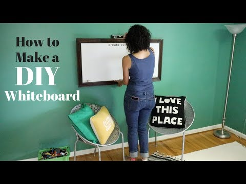 How to Make a Big DIY Whiteboard – Easy Craft Projects – Thrift Diving