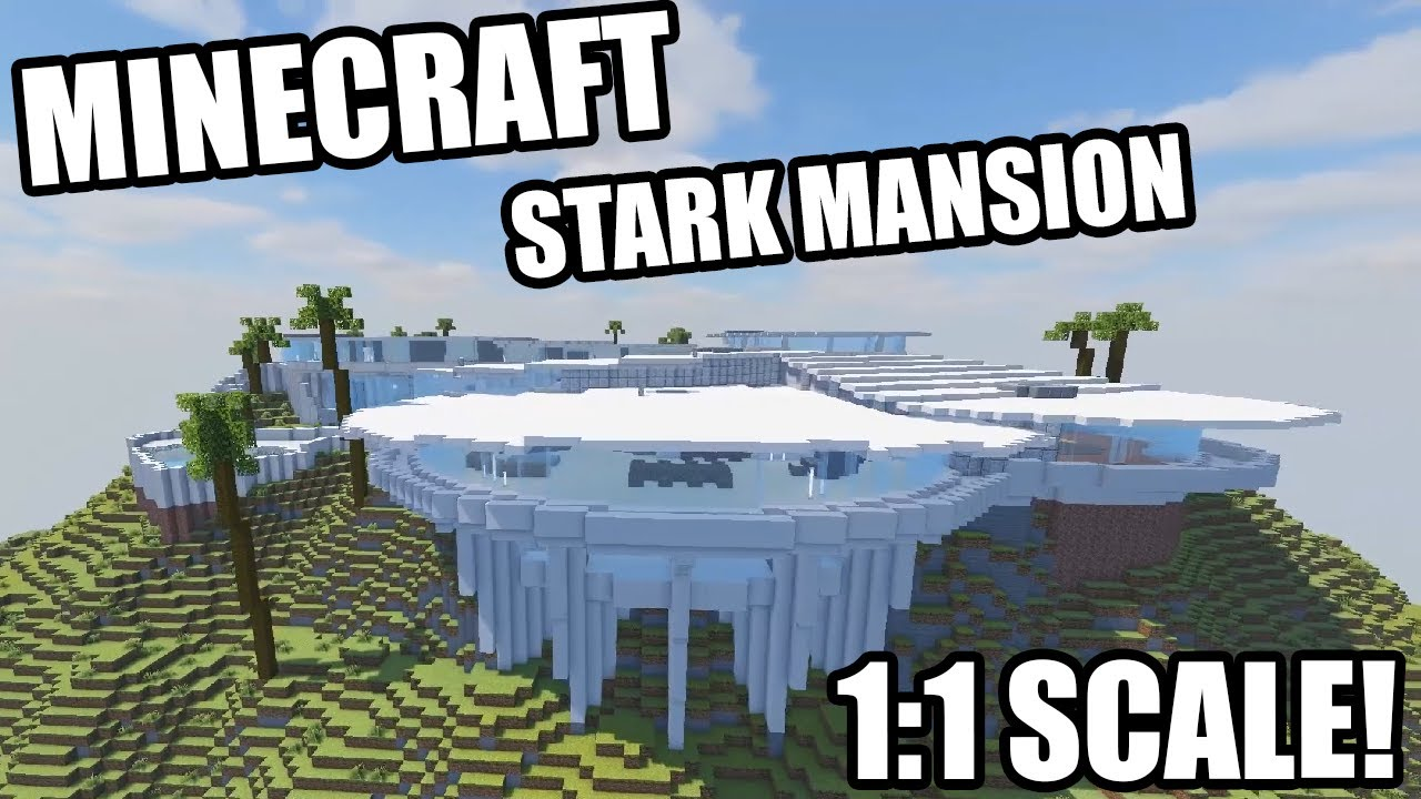 "Marvelӆs Iron Man ""Malibu Mansion"" Recreated in Minecraft Scale 122:122"