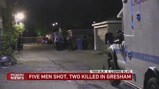 5 men shot, 2 killed in overnight Gresham shooting