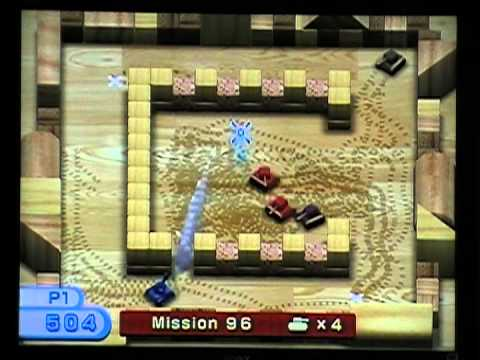 Wii Play Tanks! Mission 91-100, 13 lives remaining!