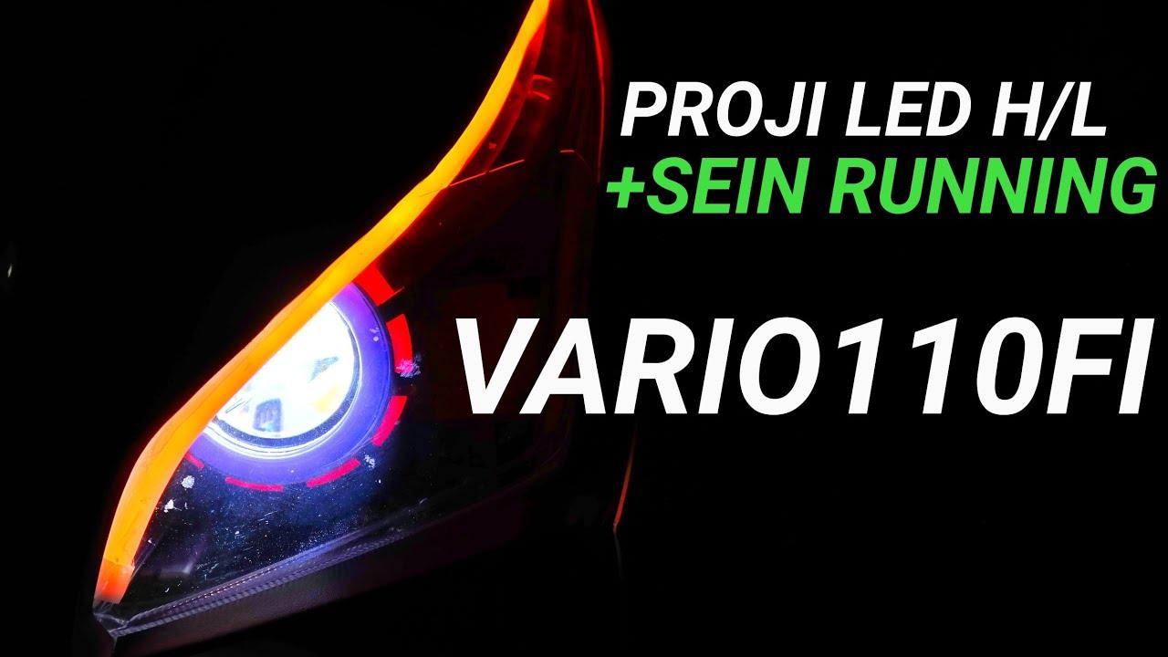 Proji Vario 110 F1 Led High Low Plus Lampu Alis Sein