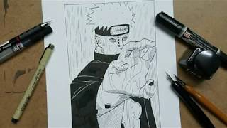 Speed Drawing - Pain\Nagato from (Naruto)