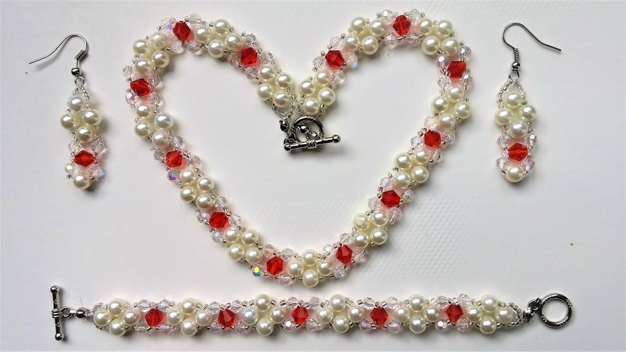 DIY Elegant Jewelry set . Easy beading instructions - YouTube