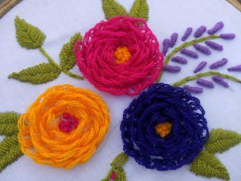 Hand Embroidery Turkish stitch Design video tutorial By Nakshi katha.