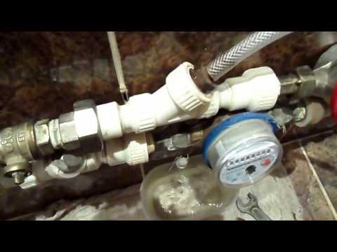 Чистка водяного фильтра