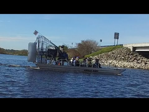 DJI Osmo St. Johns River, Florida - Lone Cabbage Fish Camp Twister Airboat Ride 4k