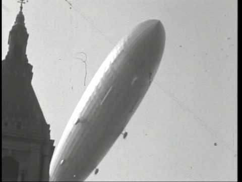 NEW Hindenburg over Hartford, Connecticut 1936 never before seen