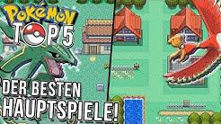 Top 5 der besten Pokemon Hauptreihenspiele!