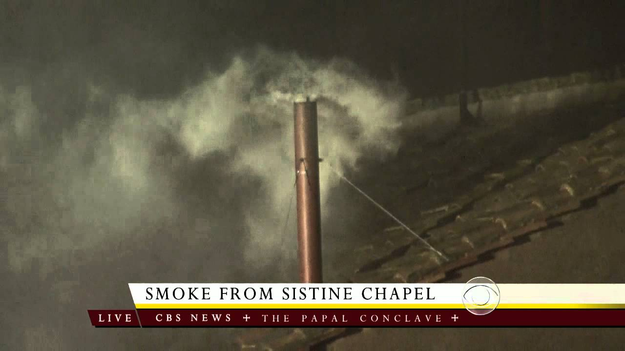 Image result for white smoke pope