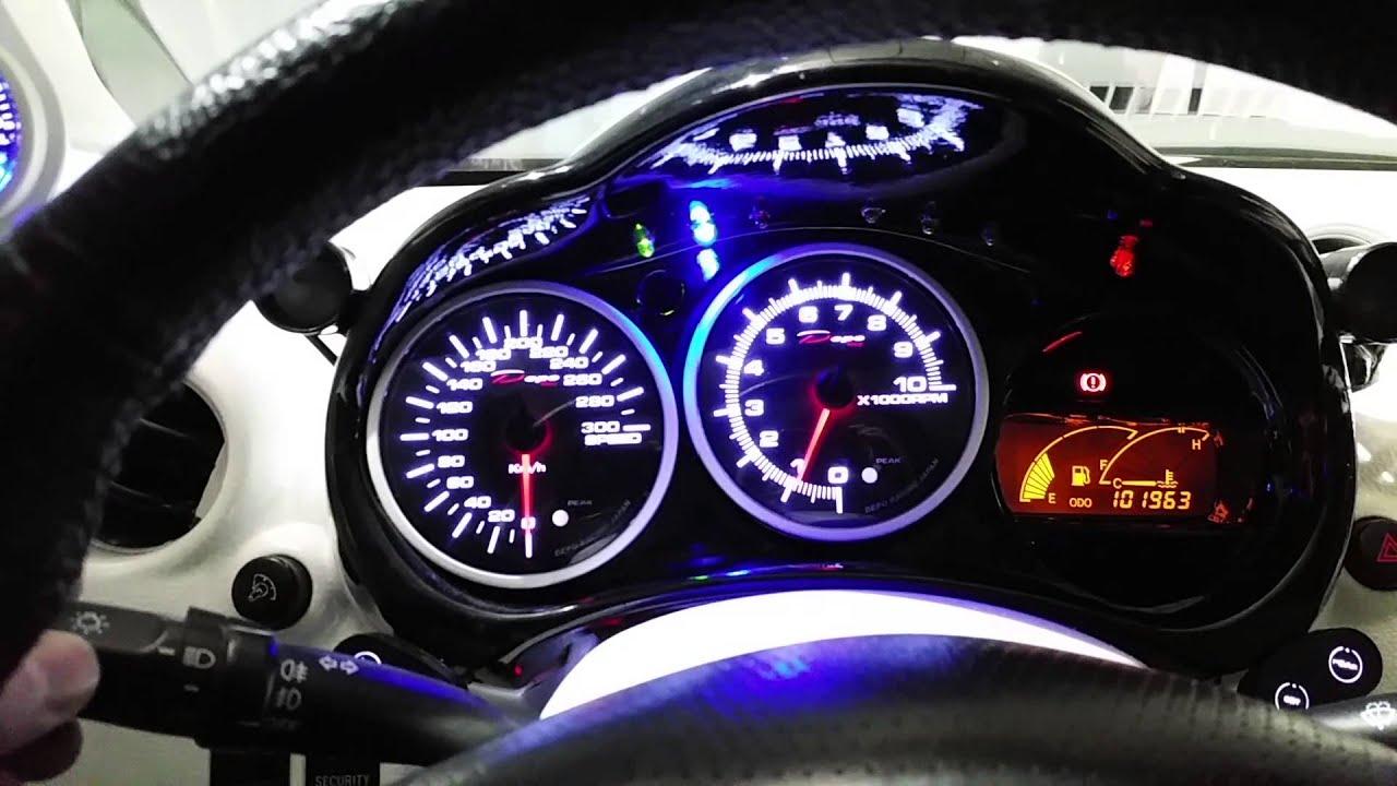 Depo Racing Gauge : Toyota celica full depo racing gauges youtube