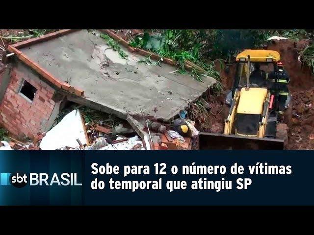 Sobe para 12 o número de vítimas do temporal que atingiu SP | SBT Brasil (11/03/19)