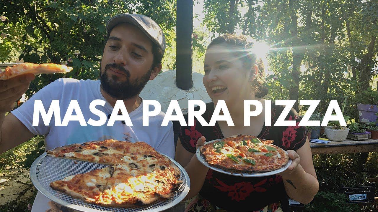 Mi Hermana Nos Enseña A Hacer MASA Para Pizza/EN EL HORNO DE LEÑA