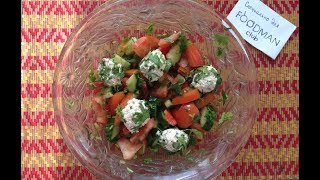 Овощной салат с творожными шариками: рецепт от Foodman.club