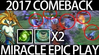 EPIC Comeback 2017 Double NAGA Ulti by Dota 2 Miracle 7.04 - Just Chilling Before DAC