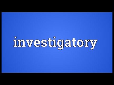 Header of investigatory