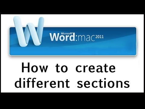 How to create a file with different sections and different ...